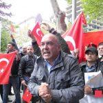 """Tiflis'te Türk ve Azerbaycan diasporasından sözde """"Ermeni soykırımına"""" karşı protesto gösterisi"""