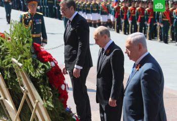 Putin  Netanyahu Vuciç 9 Mayıs'ı beraber kutluyor