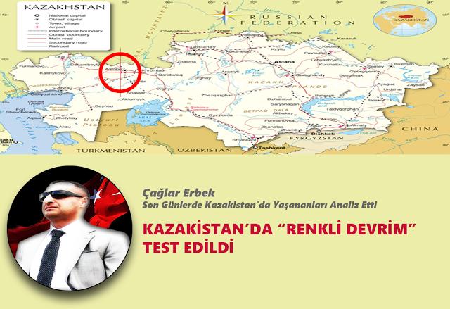 """KAZAKİSTAN'DA """"RENKLİ DEVRİM"""" TEST EDİLDİ"""