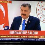 Korana Türkiye'ye gelmiş