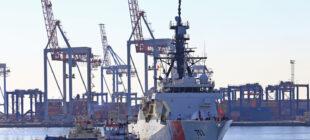 Американский фрегат береговой охраны USCGC Hamilton зашел в Одессу