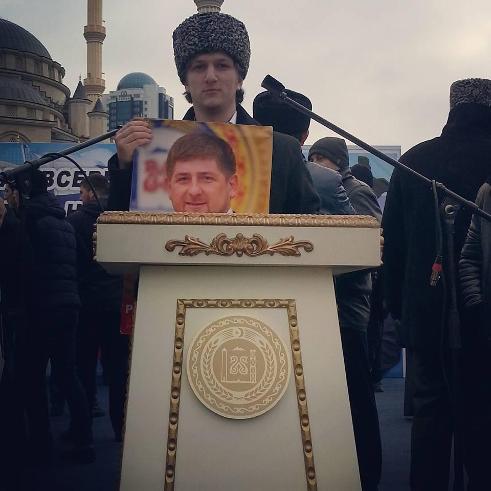 Kadirov Groznide miting yaptı