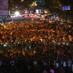Thousands March In Support Of Gunmen In Yerevan